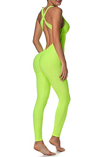 FITTOO Mallas Pantalones Deportivos Leggings Mujer Yoga de Alta Cintura Elásticos y Transpirables para Yoga Running Fitness con Gran Elásticos1370 Amarillo S