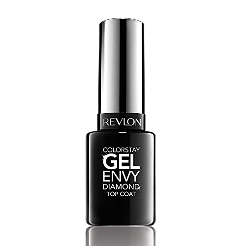 Revlon ColorStay Gel Envy Longwear Nail Enamel, Chip Resistant Diamond Top Coat Nail Polish with Shine, 0.4 fl oz