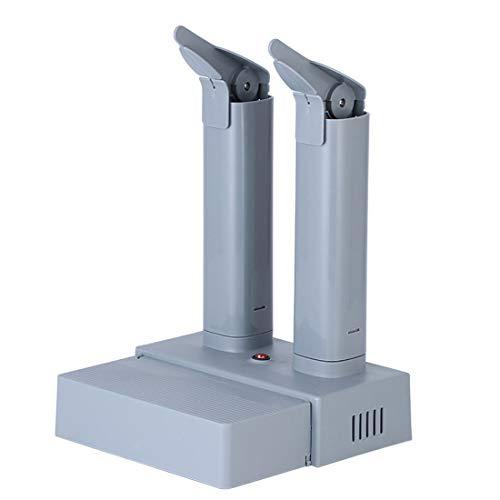 KUANDARMX Essiccazione Silenziosa Boot Dryer Elettrico Stendibiancheria Stivaletti Guanto con Timer UV E Ozono Retrattile Sterilizzazione Deodorante Scarpe Essiccazione Evitare Odori, Gray