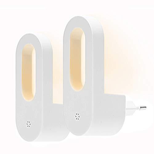 Opard LED Nachtlicht mit Dämmerungssensor Kinder Nachtlicht Sehr gut für Kinderschlafzimmer Badezimmer Flur Treppenaufgang Korridor Schrank oder ein dunkles Zimmer Warmes weißes 2 Pack