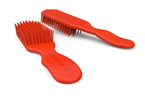 Felicia Leatherwood Red Detangler Brush - For Kinky, Curly, Wavy or Straight Hair - Tame Your Tangles Smooth Your Coils