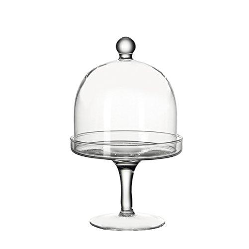 Leonardo Dolce Petit Four-Schale auf Fuß, mit Deckel, 2-teiliges Set, handgefertigtes Klarglas, 033105
