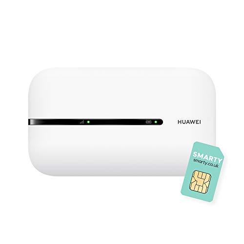 HUAWEI E5576-320 4G Reise-Hotspot, Reise-Hotspot, LTE Mobile Wi-Fi, Roams in allen Welt-Netzwerken, keine Konfiguration erforderlich, Originalteil, bis zu 150 MBit/s, Weiß