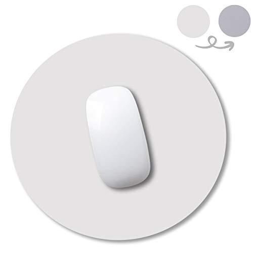 YingStar Alfombrilla de Ratón de Cuero PU Redonda Alfombrilla para Ratón Impermeable PU Leather Doble Cara Mouse Mat Antideslizante Diámetro 250 mm Mouse Pad Piel para Oficina PC Ordenador Juego