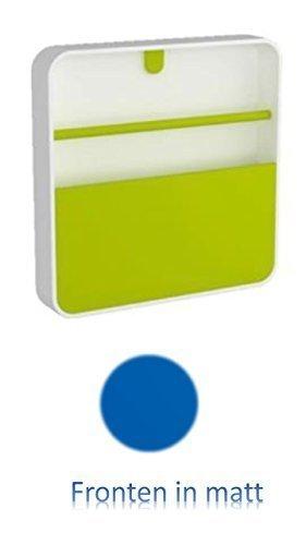 Conny Clever Schlüsselschrank aus Hochwertigem Kunststoff 32x32cm Blaue Matte Oberfläche/Haky Box/Key Box/Schlüsselbox / Schlüsselkasten