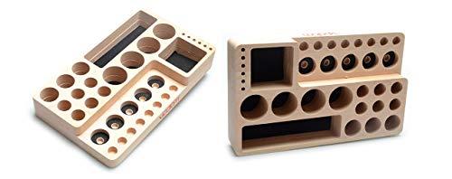 VPDAM Dampfständer Holz Tisch Ständer, Holder, Box für Verdampfer, Atomizer, Akkuträger, Drip Tip