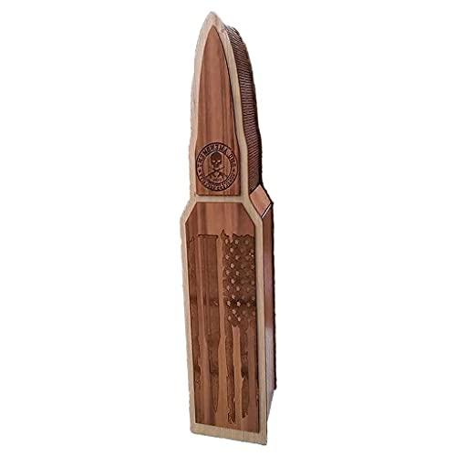 NJBYX Caja de regalo de almacenamiento de caja de vino de madera vintage caja de almacenamiento de madera de estante de vino de madera (Color : A, Size : 16.34 * 4.33 * 3.54in)