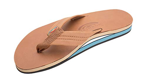 Rainbow Sandals Leather Double Layer with Arch Wide Strap