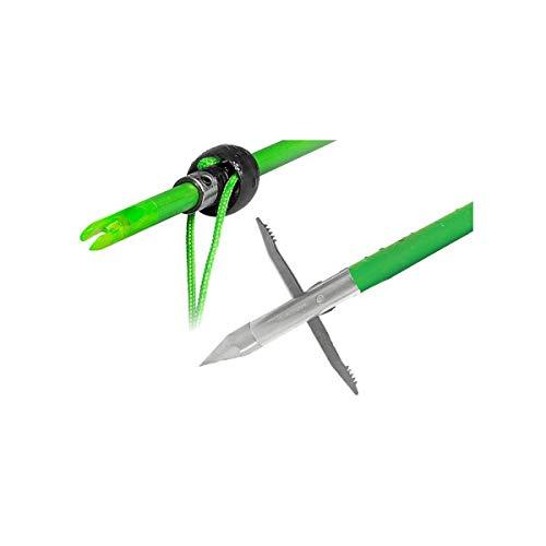 TRUGLO TG140B1G Speed-Shot Bowfishing Arrow FG, CARPEDO Point, Green, One Size