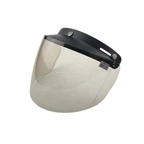 Wancar Retro Universal Standard 3-Snap Open Face Motorcycle Helmets Flip Up Face Visor Wind Shield Lens(Light Smoke)
