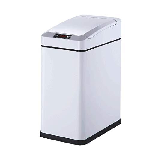 Zhenmu home Contenedores de Reciclaje, Sensor Inteligente Bote de Basura, Inicio de Carga de Basura de Cocina Dormitorio Separado Puede (Color : White)