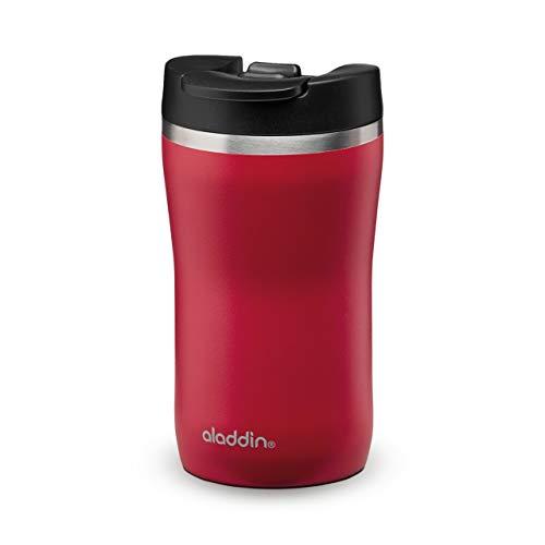 Aladdin Barista Café Thermavac Leak-Lock Stainless Steel Travel Mug 0.25L Cherry Red – Taza con Aislamiento al Vacío - Se Mantiene Caliente 2,5 Horas - Libre de BPA - Apta Para Lavavajillas