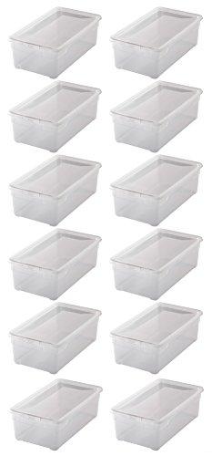 """12x Aufbewahrungsboxen """"Clear Box"""" mit 5 Litern, 33,0 x 19,0 x 11,0 cm - transparent - stapelbar - Kunststoff/Plastik"""