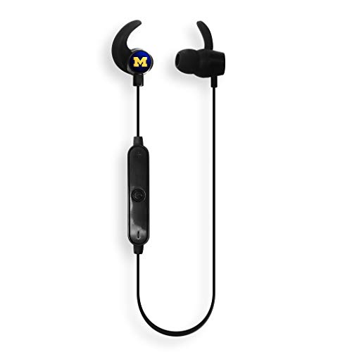 NCAA Michigan Wolverines Wireless Bluetooth Earbuds, Team Color