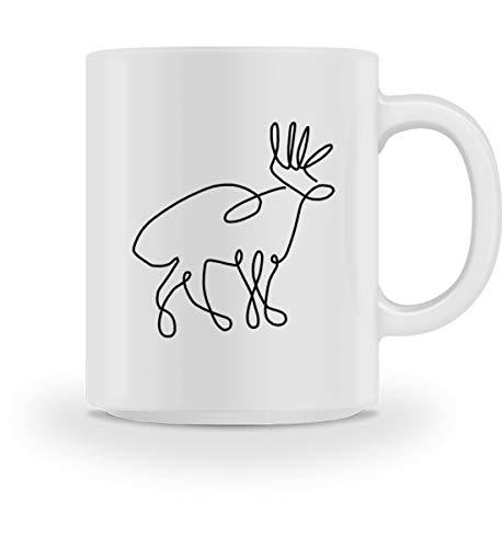 Chorchester hert tekening voor dierenfans - mok