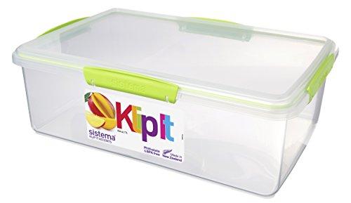 Sistema Boîte de Conservation Alimentaire en polypropylène avec Clips et Joints hermétiques Vert Citron/Turquoise/Violet/Blanc 7 l