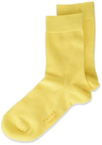 FALKE Unisex Kinder Family K SO Socken, Blickdicht, Gelb (Snapdragon 1207), 23-26 (2-3 Jahre)