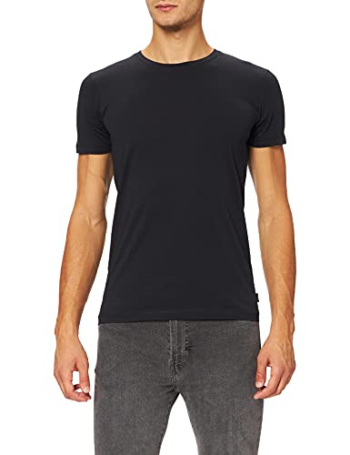 ESPRIT Herren Rundhals Basic T-Shirt, 001/BLACK-New Version, L