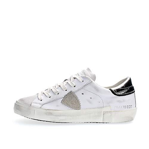 Philippe Model Sneakers Donna Prsx Veau Croco Bianco PRLDVC02 37