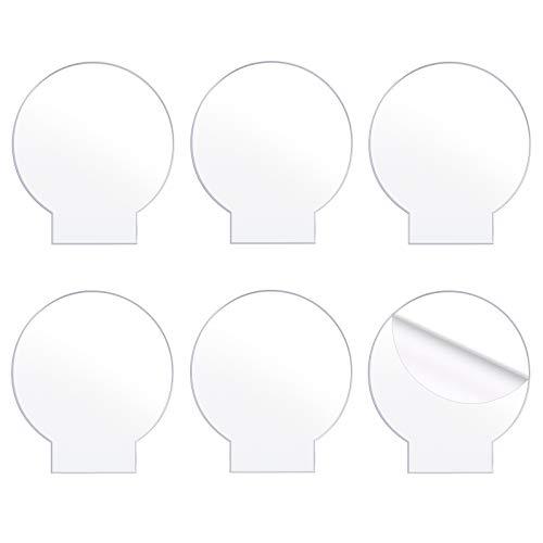 LUTER 6-Teilige Transparente Acrylplatte 2 Mm Klares Acryl-Rundpaneel Für Led-Lichtbasisschild Kunststoff-Acrylplattenguss Für DIY-Display-Bastelarbeiten