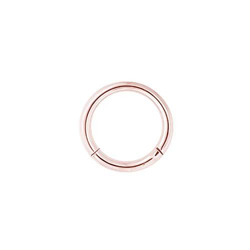 Karisma G23 - Piercing ad anello con segmento in titanio rosa e Titanio, colore: 1,2 x 9 mm., cod. RG-BHSR