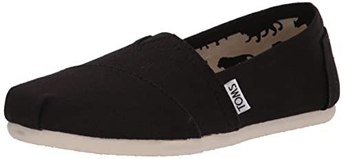 TOMS Women's Classic Alpargata Slip-On Shoe Black Canvas 9.5 M
