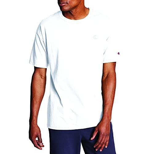 Champion Herren Classic Jersey T-Shirt Hemd, weiß, Groß