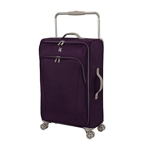 it luggage Sprightful World's Lightest Softside Spinner, Purple, Checked-Medium 28-Inch
