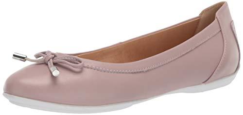 Geox Charlene D84Y7A Damen Ballerinas,Frauen Flats,Sommerschuh,elegant,Schleife,Freizeit,Antique Rose,37