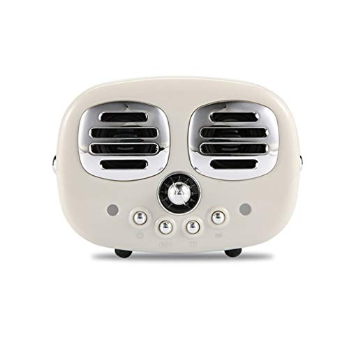 JUNPE Radio Retro Bluetooth Vintage Radio FM con Estilo clásico Antiguo Mejor Fuerte Bass Bass Volumen Bluetooth 4.2 Conexión inalámbrica (Color : White)