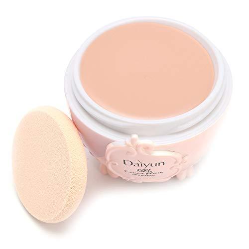 Concealer Foundation BB Cream Makeup Cosmetics Moisturizing Blemish Primer Cream With Puff - Skin Color