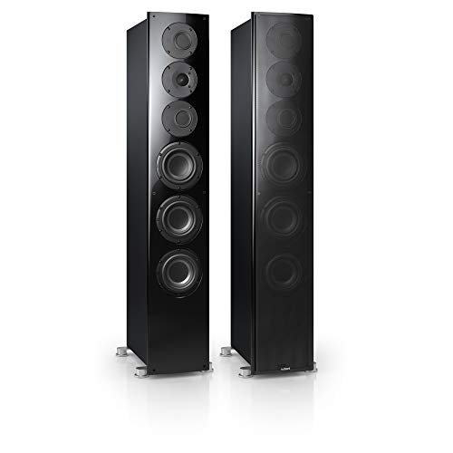Nubert nuVero 110 Standlautsprecherpaar | Lautsprecher für Stereo | HiFi Qualität auf höchstem Niveau | Passive Standboxen mit 3 Wegen Made in Germany | High End Standlautsprecher Schwarz | 2 Stück