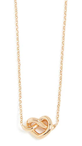 Kate Spade New York Women's Loves Me Knot Mini Pendant Necklace, Gold, One Size