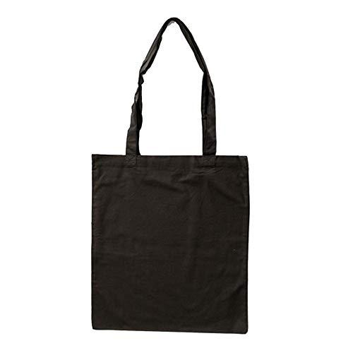 Bags by Jassz Stoffbeutel aus Baumwolle mit langen Henkeln (ca. 38 x 42 cm, Schwarz)