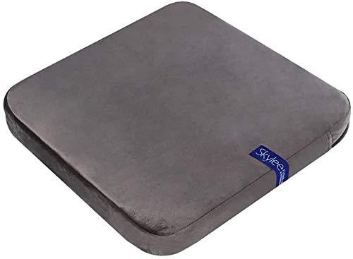 Rectángulo Esponja Silla almohadilla de fibra de aire respirable del amortiguador de asiento no resbalen Apoyo Banco almohadilla del amortiguador de asiento de la estera con la cubierta lavable Yoga S