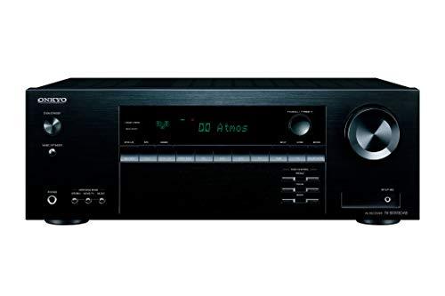 Onkyo TX-SR393DAB Ricevitore AV a 5.2 canali (Bluetooth, DTS:X, Hi-Res, Dolby Atmos, DAB+), Nero