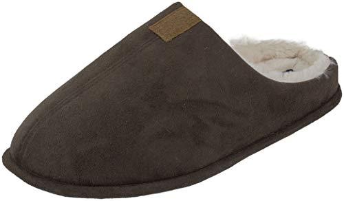 IZOD Classic Slip-on, Slip-Off Clog Slipper (X-Large / 11-12 D(M) US, Brown)