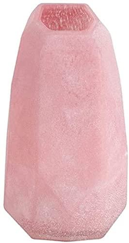 ZXYDD Florero de cristal rosa para el hogar, sala de estar, mesa de café, escritorio, moderno jarrón decorativo con boca oblicua de 8.6/11.4 pulgadas, decoración del hogar (tamaño A: A)