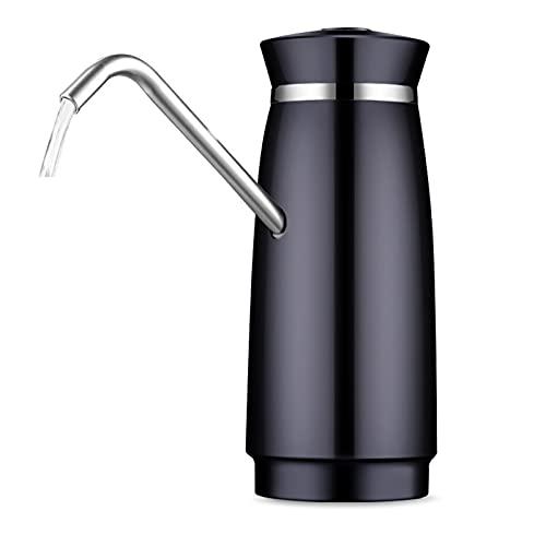 PrittUHU Bomba de Agua portátil Bomba USB Carga automática Bomba de Agua Potable Dispensador de Agua eléctrica Interruptor de Botella de Agua (Color : Black)