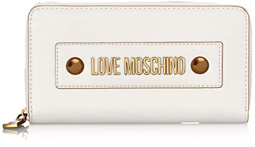 Love Moschino Damen Jc5604pp1a Geldbörse, Weiß (Bianco), 2x10x19 Centimeters