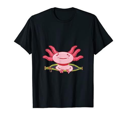 Axolotl Aquarium Aquaristik Terrariums Amphibien Axolotl T-Shirt