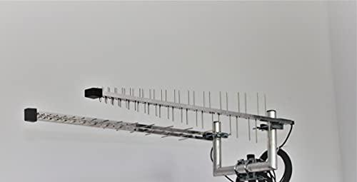 Wittenberg LAT 60 Duo Set 2 x Universal-Aussenantennen für z.B. LTE, Wi-Fi, 5g, Aluminium, Silber