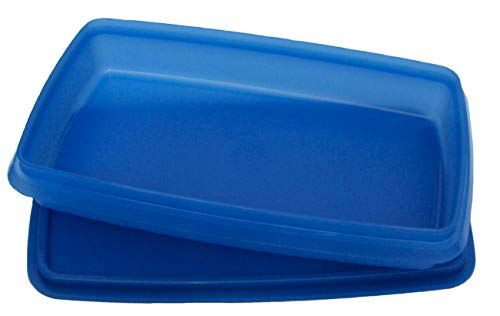 Tupperware Deli Keeper for Meat and Cheese Slim Line Container Royal Blue