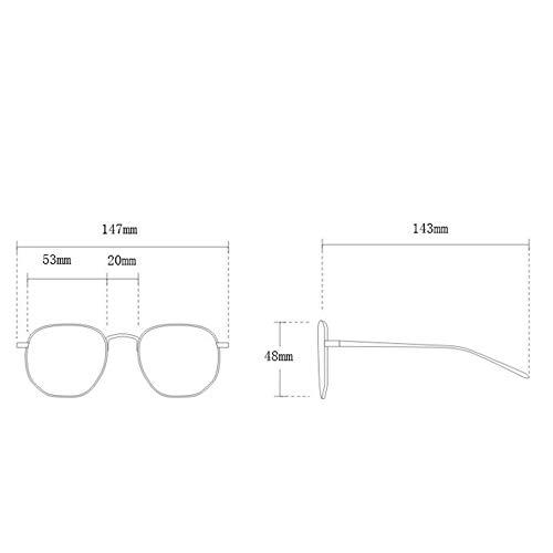 Greatangle-UK 15991 Gafas de Sol para Hombres, Mujeres, Retro, Semi-sin Montura, Gafas de Sol polarizadas