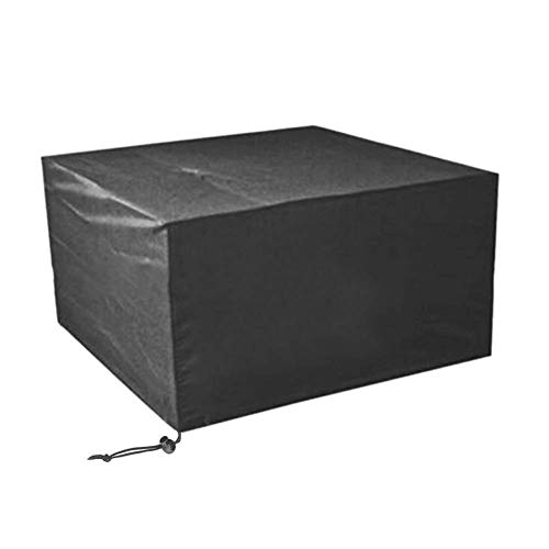 Ulable Outdoor Garden Furniture Cover,Waterproof Patio Furniture Cover 210D Oxford Fabric Rectangular Table and Chair Set Cover,Cube Set Cover - Black (126 * 126 * 74cm)