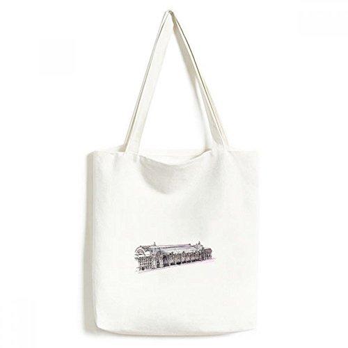 ORSAY Museum in Paris Frankreich Leinwand Tasche Umweltfreundlich Tote groß Geschenk Kapazität Einkaufstaschen