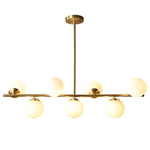 Lámpara molecular de estilo americano, lámpara de techo molecular, salón creativo, dormitorio simple nórdico, 7 cabezas colgante luz