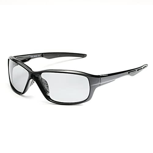 HUAGE Los hombres de moda polarizaron las gafas de sol fotocromáticas, gafas de sol de los deportes al aire libre de la protección UV, equipo al