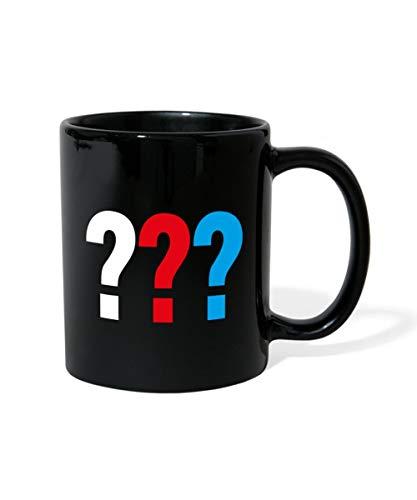 Spreadshirt Die Drei Fragezeichen Logo Tasse einfarbig, Schwarz