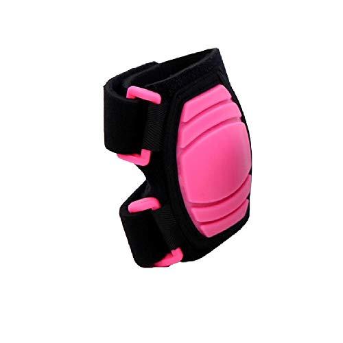 Soft Pads Knieschützer Ellbogenschutz Fahrrad Tanz Rollschuh Schutzausrüstung-Pink-M